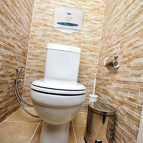 Scott Pro Toilet Seat Cover (07410), White, Disposable, 125 Covers / Pack, 24 Pa