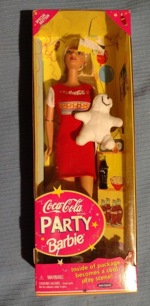 Primary image for COCA COLA Party Barbie Special Edition 1998 with Polar Bear Mattel 22964 ~NEW~