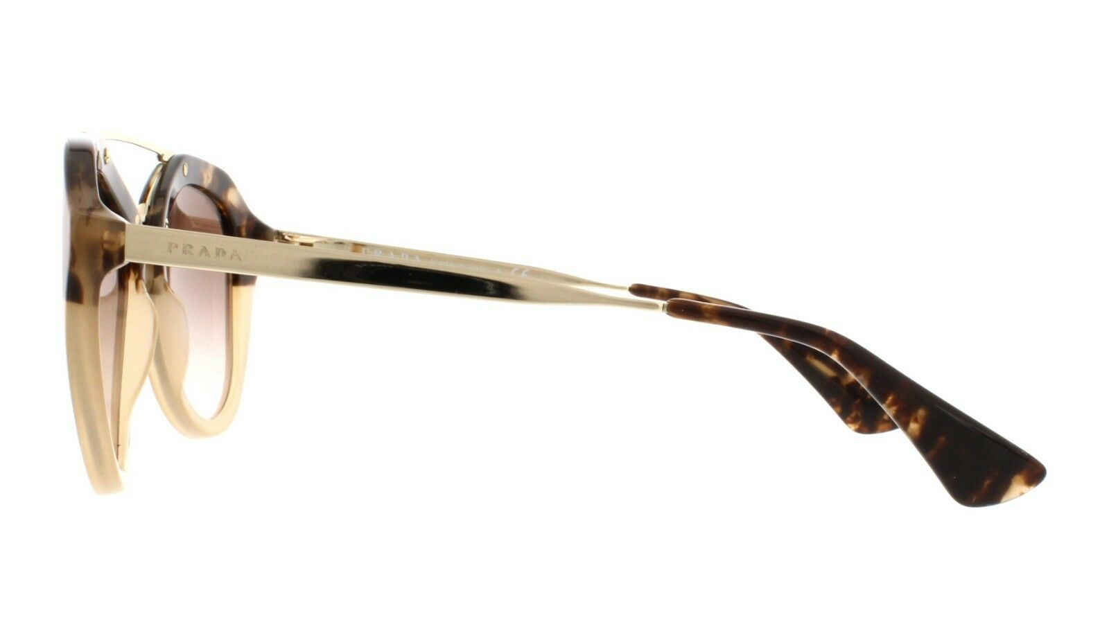 NEW PRADA CINEMA Gold/ Brown Havana Gradient Sunglass SPR13Q ROZ0A6