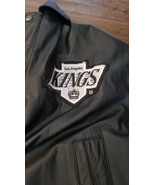 1990'S LOS ANGELES KINGS PRO PLAYER BY DANIEL YOUNG LEATHER JACKET LARGE L  - $199.99