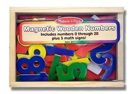 Melissa & Doug Numbers Wooden 25 Magnets-in-a-Box Gift Set + FREE Scratch Art Mi - $13.61
