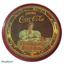 Vintage Coca-Cola Round Red Cookie Tin  - $11.88