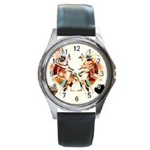 Kokopelli Unisex Round Metal Watch Gift model 36408026 - $13.99