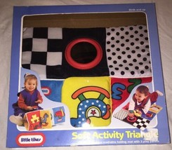 1994 Little Tikes Soft Activity Triangle Folding Mat 3 Play Panels Baby Rare NIB - $28.70