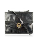 Authentic Gucci Vintage Black Leather Double Flap Shoulder Bag with DEFECTS - $8.91
