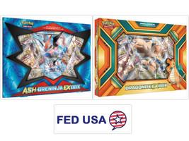 Ash-Greninja Ex Box + Dragonite Ex Box Pokemon Tcg Sealed Booster Packs - $54.99
