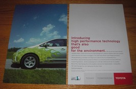 2003 Toyota Hybrid Synergy Drive Ad - Introducing high performance technology  - $14.99
