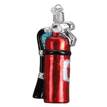 Old World Christmas Glass Blown Ornament Fire Extinguisher - $12.65
