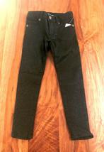 New Gap Kids Girl Slim Fit Black Shimmer Five Pockets Super Skinny Jeans 5 8 - $19.99