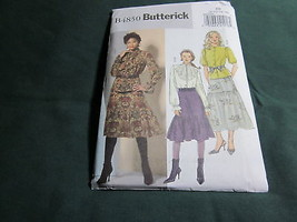 BUTTERICK MISSES BLOUSE Prarie ruffled SKIRT SEWING PATTERN S 8 10 12 14   - $5.75