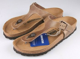 Brand New Authentic Birkenstock Gizeh BS Tabacco Brown Women's Thong Sandals