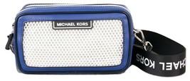 Michael Kors Sport Danika Blue Black Net Small Camera Top Zip Bag $248 - $118.79