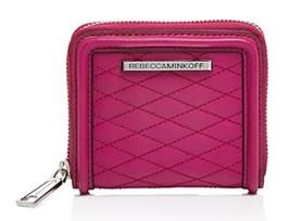 Rebecca Minkoff gesteppt Love klein AVA Reißverschluss Kompakte Geldbörse Leder - $64.35