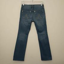 dELiA*s womens jeans size 1 blue Dollskill Morgan straight leg stretch d... - $28.47