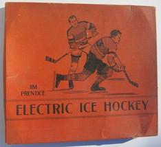 1940 Jim Prentice Electric Hockey Game Wood Vintage Lights Sold As Is - $24.65
