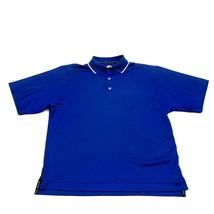 Footjoy Golf Dry Fit Polo Size M Medium Royal Blue Short Sleeve Shirt Em... - $14.27
