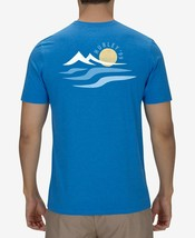 NEW MENS HURLEY MOUNTAIN SURF GRAPHIC BLUE T SHIRT TEE M - $15.83