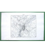 "1846 ANTIQUE ORIGINAL MAP - FRANCE Lyon & Environs 10 x 15"" (25 x 38 cm) - $18.90"