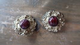 "Vintage 1 1/8"" Gold Tone Clip Earrings - $7.91"