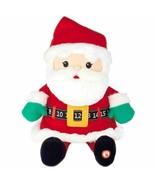 Hallmark Countdown to Christmas Santa Stuffed Animal Plush Toy Talks wit... - $29.69