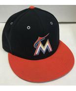 Nike Florida Marlins Adjustable Hat Baseball Cap Black Orange Flat Brim - $8.80