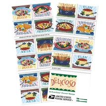 Delicioso Book of 20 USPS one-ounce rate Forever Postage Stamps Latin Fo... - $19.55