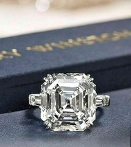 Certified 3.15Ct Asscher Cut White Diamond Engagement Ring Solid 14k Whi... - £205.51 GBP