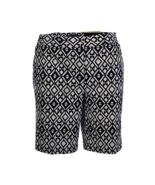 Mario Serrani Itay Comfort Stretch Tummy Control Shorts, Black & White, 12 - $8.80