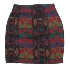 VTG Womens Multi-color Tribal Geometric Southwest Flannel Pencil Skirt S... - $14.68