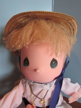 """Precious Moments mitzy Doll the worlds children yellow yarn  Hair 13"""" - $34.65"""