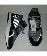 New Adidas Men's Nite Jogger Shoes FV3854 Houndstooth Print Black White ... - $123.74