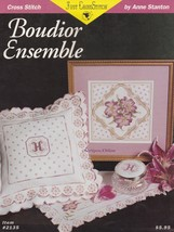 Boudior Monogrammed Floral Ensemble, Just Cross Stitch Pattern Booklet 2135 - $3.95