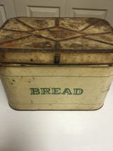 Vintage Bread Tin, Bread Box, Midcentury, Farmhouse Decor - $55.00