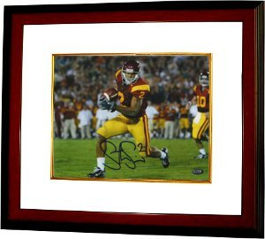 Steve Smith signed USC Trojans 8x10 Photo Custom Framed