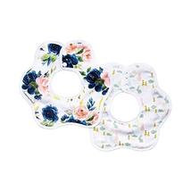 Tiny Twinkle Roundabout Bibs 2 Pack - Blush Rose Bunny Girl Set, 360 Rotating Wa
