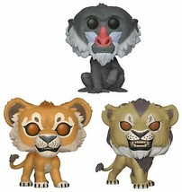 Funko Pop! Disney: Lion King Live Action - Simba, Scar and Rafiki Set of 3  - $32.99