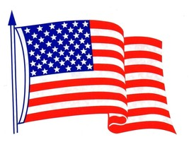 AMERICAN FLAG Static Cling WINDOW DECAL  UNITED STATES OF AMERICA FLAG D... - $2.47
