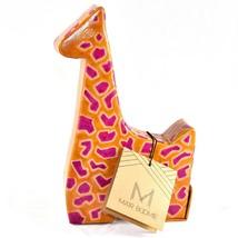 MATR Boomie Handmade Leather Giraffe Piggy Coin Still Bank Made in India - $24.74
