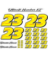 Custom Race Car number kit decals graphics - Ultimate Number Kit - Prizm... - $79.20+