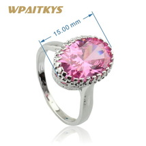 Pink Cubic Zirconia 925 Sterling Silver Jewelry Sets Necklace Pendant Earrings B image 3