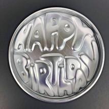 Vintage Happy Birthday Cake Pan Wilton Round Dome 2-PC 503-611 1970s MI433 - $15.43