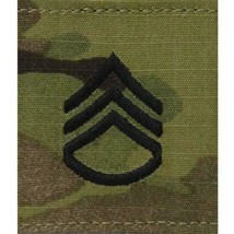 Genuine U.S. Army Chevron Gortex Tab Rank: Staff Serg EAN T - Ocp Jacket Tab - $9.88