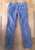 GAP Kids Girls Size 10 Velvet Cotton Pants Brown Taupe Straight Slim Leg - $9.49