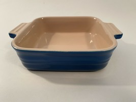 "Le Creuset mini baking dish casserole 12-32 Blue Stoneware NEW 7 1/8"" x ... - $15.99"