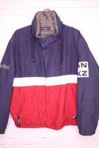 Vintage Nautica 90s Mens NKZ Color Block Reversible Windbreaker Jacket S... - $29.69