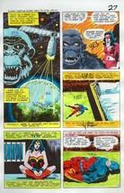 Original 1978 JLA Super Team Family 14 color guide art page 27:Wonder Woman/Atom - $99.50