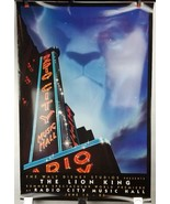 "Disney Lion King Radio City Music Hall Poster 40""x27"" Original Rolled Ship - $48.37"