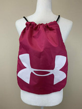 NEW Under Armour Ozsee Sackpack Pink Black Drawstring Backpack Back Sack - $14.99