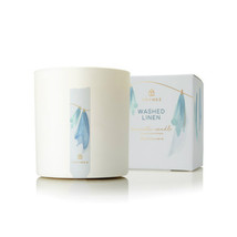 Thymes Washed Linen Statement Poured Candle 16oz - $45.00