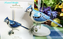 Hallmark Blue Jay ornament 2007 Beauty of Birds #3 in Series Brand New - $74.20